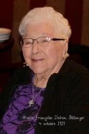 Marie Doiron Belanger  2019 avis de deces  NecroCanada