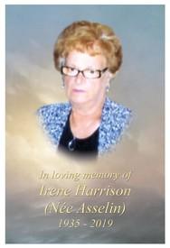Irene Harrison Nee Asselin  19 novembre 1935