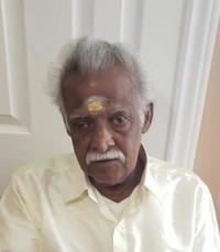 Kanagarajah Veluppillai  Friday January 3rd 2020 avis de deces  NecroCanada