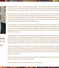 Shahshikant Shah  Monday May 25th 2020 avis de deces  NecroCanada