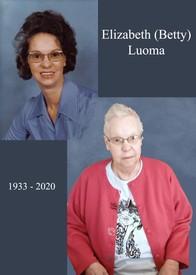 Elizabeth A Hansen Luoma  November 28 1933  November 17 2020 (age 86) avis de deces  NecroCanada