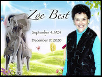 Zoe Best  1924  2020 avis de deces  NecroCanada