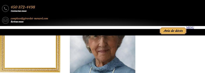 Mme Simone Beauregard Beaudry  12 février 2021 avis de deces  NecroCanada