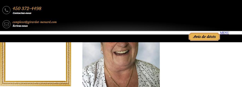 Mme Celine Ostiguy Delorme  15 février 2021 avis de deces  NecroCanada