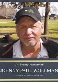 Johnny Paul Wollman  October 28 1961  June 18 2021 (age 59) avis de deces  NecroCanada