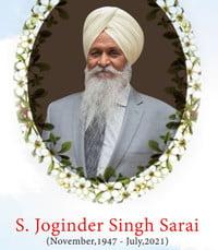 Joginder Singh Sarai  Friday July 23rd 2021 avis de deces  NecroCanada