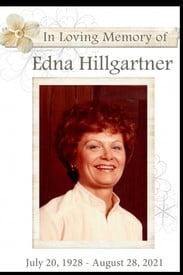 Edna Hillgartner  2021 avis de deces  NecroCanada