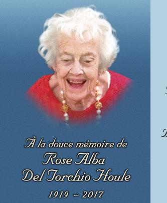Rose Alba Houle (Del Torchio) - 2017