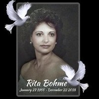 Rita Maria Bohme  January 27 1955  December 22 2018 avis de deces  NecroCanada