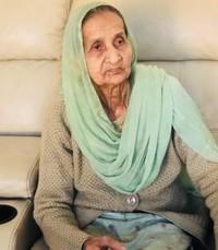 Harbans Kaur Deewra  Wednesday August 14th 2019 avis de deces  NecroCanada