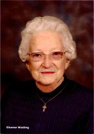 Eleanor Elizabeth Watling  February 21 1921  November 24 2019 (age 98) avis de deces  NecroCanada